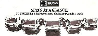 Truck Brochure - Nissan UD - 1800 2000 3000 3300 550T Specifications 1988 (TB698