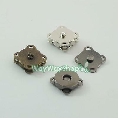 Magnetic snaps purse quincuncial 14mm Clasp for Bag Leather book Fabric Pick