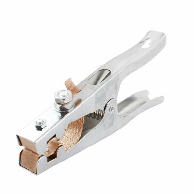 12KW 500A Silver Tone Metal Electrode Holder Electrical Welding Clamp Clip