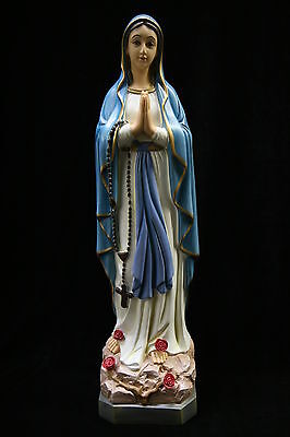 """19"""" Our Lady of Lourdes Virgin Mary Madonna Catholic Statue Sculpture Figure"""