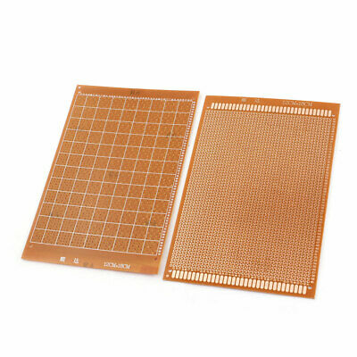 2Pcs 2.54mm Spacing Single Side PCB Board Prototype Breadboard 12cmx18cm