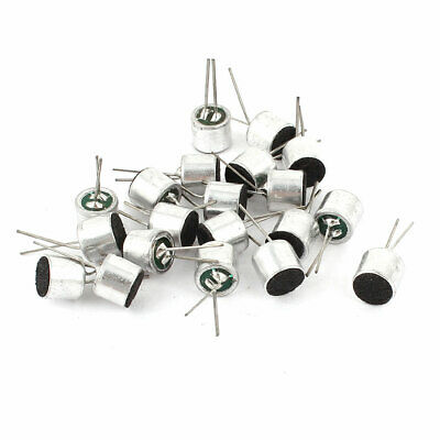 20 Pcs -50dB 2.2K Ohm 2Pins Stereo Uni-Directional Electret Condenser Microphone