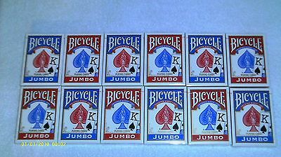 12 Decks of Bicycle Jumbo Face Poker Playing Cards