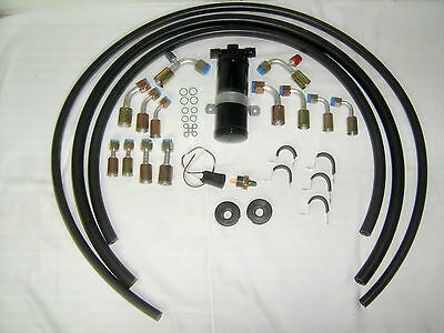 Universal Air Conditioning Hose kit w// Drier /& Binary Switch fitting colors vary