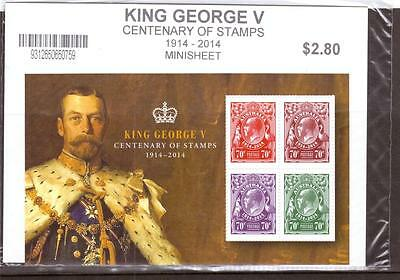 Australia, King George V Centenary Of Stamps, Min Sheet, Mnh