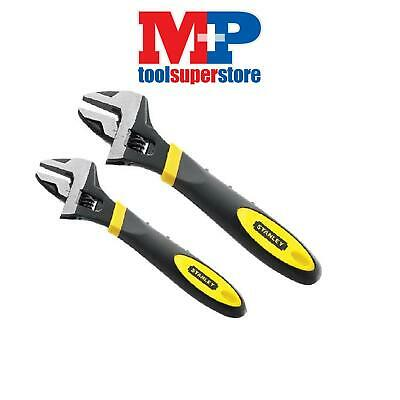 Stanley 090948 + 090949 Max Steel Adjustable Spanner Wrenches 200Mm + 250Mm