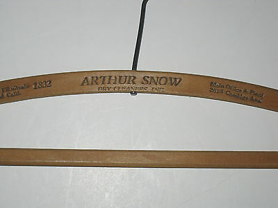 Vintage Clothes Hanger ARTHUR SNOW DRY CLEANERS INC., Coolidge Ave., Oakland CA