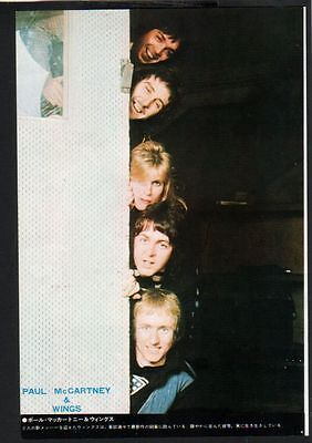 1975 Paul McCartney & Wings JAPAN mag photo pinup picture / mini poster w0002m