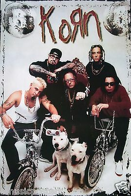 """Korn """"group With Bicycles And Pit Bulls"""" Poster From Asia"""