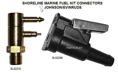 Male Female Fuel Line Quick Connector Kit Johnson Evinrude 2 Prong 400Jec 480Pfc