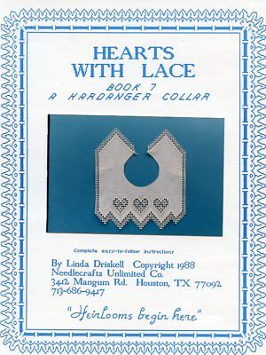 Hearts With Lace Hardanger Collar Cross Stitch Pattern - 30 Days To Shop & Pay!