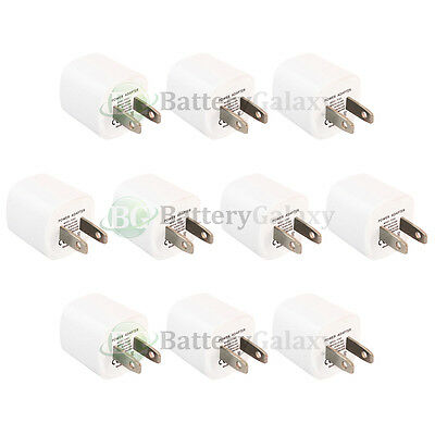 10 HOT! Mini USB Wall AC Charger for Apple iPhone SE 4 4S 5 5C 5S 6 6S 7 7S Plus