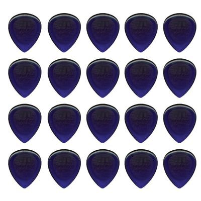 20 x Jim Dunlop Jazz Stubby 3.00MM Gauge Guitar Picks *NEW* Plectrums, Purple