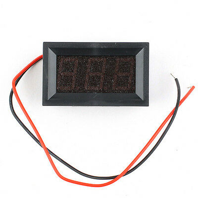 2 Wire Red DC 2.5-30V LED Panel Digital Display Voltage Meter Voltmeter