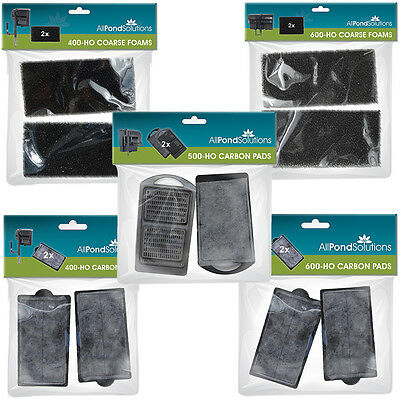 Foams / Carbon Pads Filter Media - Fits 400-HO / 500-HO / 600-HO Hang On Filters