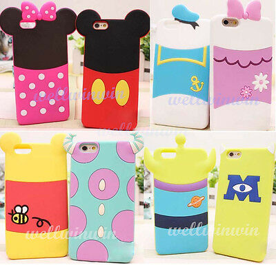 New Cute Disney Cartoon Mickey Soft Silicone Back Case Cover For iPhone 6 6 Plus