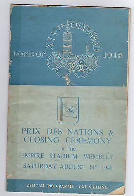 Orig.PRG   XIV.Olympic Games LONDON 1948 - Closing Ceremony  !!  EXTREM RARE