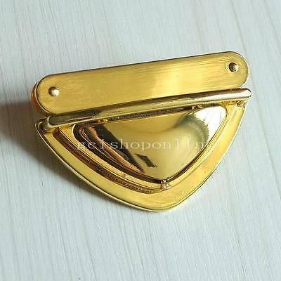 Closure Catch Tuck Lock One 2 5 10 for Leather Bag Case Clasp hangbag Purse Gold