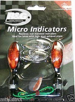 R&G RACING MICRO INDICATORS ONE PAIR - BLACK BODY YAMAHA 8mm THREAD