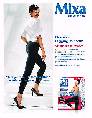 PUBLICITE ADVERTISING 094  2013  MIXA   jambes fuselées SONIA ROLLAND
