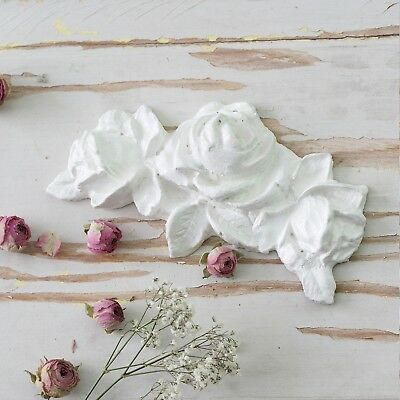 Shabby Cottage Chic French Roses Bunch Furniture Appliques Lrg