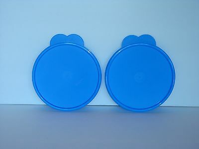 Tupperware Impressions Microwave Safe Cereal Bowl Seals Only Set of 2 Blue New