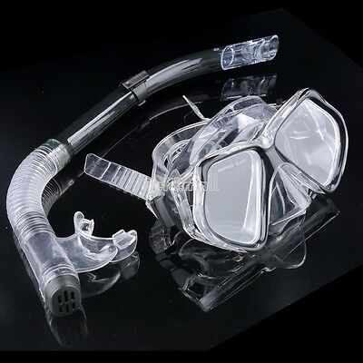 New Dive Diving Mask Goggle Dry Snorkel Set Swimming Scuba Snorkeling Gear Black