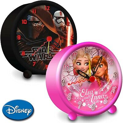 Disney Kinder Wecker Kinderwecker Lernwecker Alarm Analog Minnie Frozen StarWars
