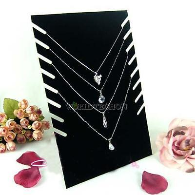 Velvet Necklaces Holder Show Case Display Stand Fashion Jewelry Display Base Hot