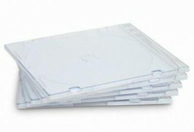 100 SLIM Clear CD Jewel Cases
