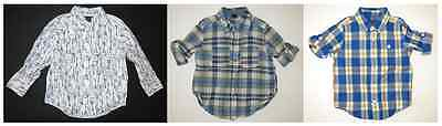 Baby Gap Retail Outlet boy toddler button up dress shirt top roll up long sleeve