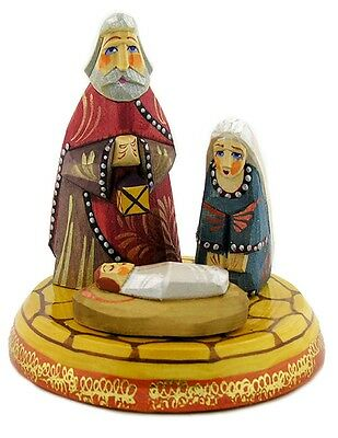 Rare Hand Carved Hand Painted Nativity Scene Set Christmas Gift WOW Jesus Mary !