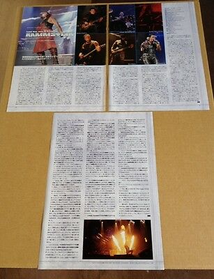 2011 Rammstein 4pg 9 photo JAPAN mag article / clippings cuttings r08m