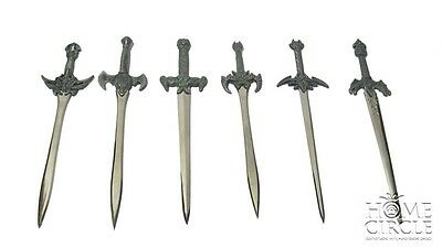Assorted Medieval Gothic Stainless Steel Sword Letter Opener Grey Dragon Viking