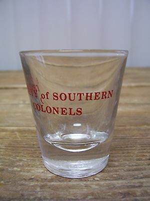 Society Of Southern Colonels Clear Shot Glass Bar Barware