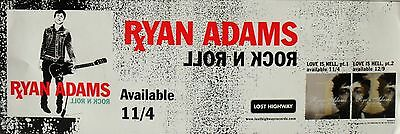 "Ryan Adams ""rock N Roll - Available 11/4"" U.s. Promo Poster / Banner"