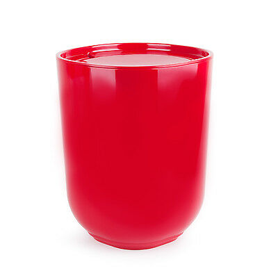 Umbra Step Waste Can with Lid - Red