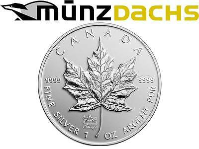 $ 5 Maple Leaf ANA Coin Show Chicago Privy Mark 1 oz silver Canada 2014