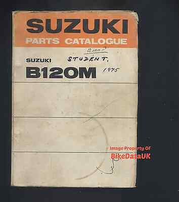 Suzuki B120-M (1975-1977) Parts List Catalogue Manual Book B 120 Student