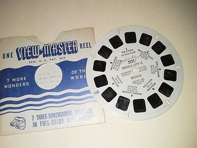 1940s Sawyers Viewmaster 3D Stereo 501 reel Mexico City 1  photos