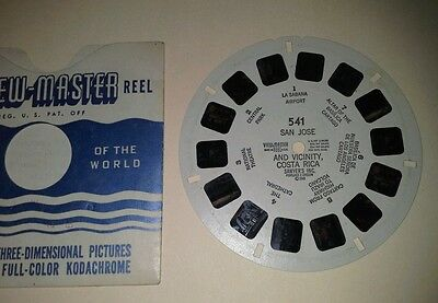 1940s Sawyers Viewmaster 3D Stereo 541 reel San Jose Costa Rica vicinity photos