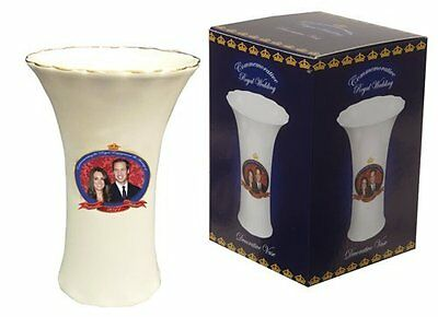 WILLIAM AND CATHERINE ROYAL WEDDING COMMEMORATIVE VASE 5.5 INCHES NEW IN BOX