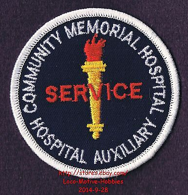 LMH PATCH Badge COMMUNITY MEMORIAL HOSPITAL  Medical Center  AUXILIARY VOLUNTEER