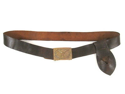Indian War US Army Infantry Leather Waist Belt & Sword Frog w/Brass Eagle Buckle