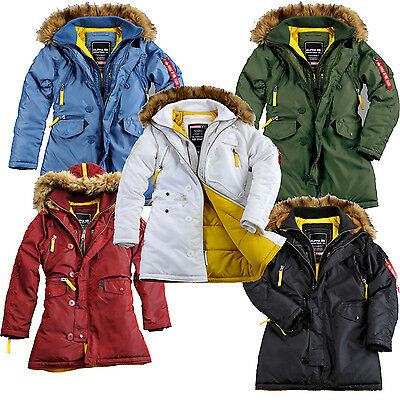 newest 99b32 cf7a5 ALPHA INDUSTRIES DAMEN Wintermantel Jacke PPS N3B Wmn 133003 Winterparka  Parka