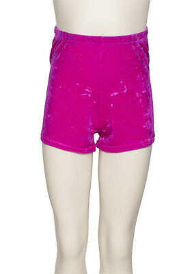 Girls Ladies Dance Gymnastics Velour Velvet Hot Pants Shorts KHPV5 By Katz