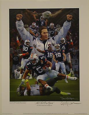 AUBURN Tigers 2010 National Championship print by Daniel Moore All in One Spirit