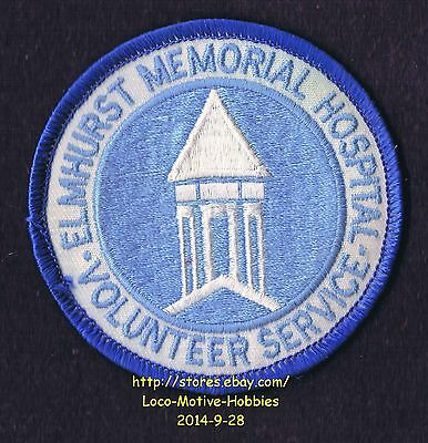 LMH PATCH Badge ELMHURST MEMORIAL HOSPITAL  Medical Center EMHC VOLUNTEER Svc IL