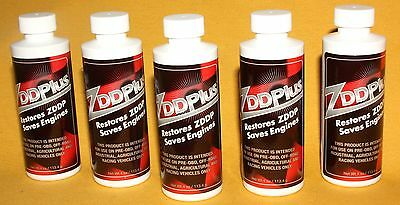 Five ZDDP ZddPlus Anti-Wear Engine Oil Additive Zinc and Phosphorus Featured