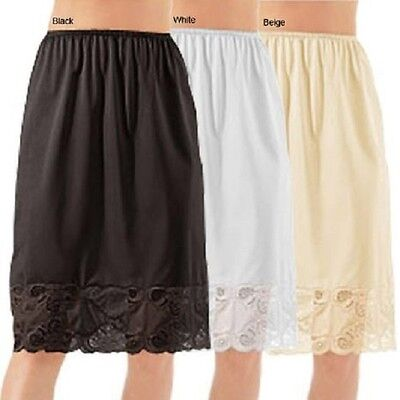 Half Slip 27 inch long All Around Lace anti-static nylon for non cling S-3X